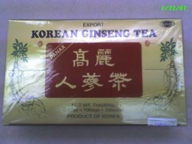 Korean Ginseng Tea - 100 bags